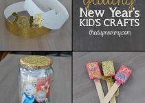 New Year Crafts Kids Party Hats Time Capsule