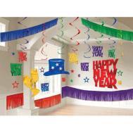 New Years Eve Giant Room Decorating Kit Jewel Tone