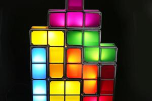 Newest Tetris Led Light Desk Bed Lamp Diy Retro Game Style