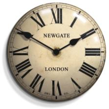 Newgate Clocks Chelsea Convex Tin Wall Clock
