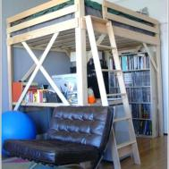 Office Design Bunk Bed Underneath Double