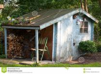 Old Garden Shed Royalty Stock Photos