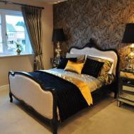 Orange Brown Bedroom Pink Black Gold