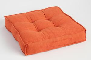 Orange Khadi Tufted Floor Cushion World Market