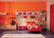Orange Red Kids Bedroom Bunk Beds Stylehomes