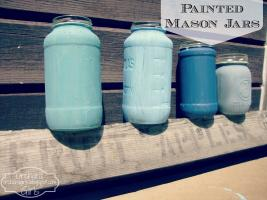 Orchard Girls Diy Painted Mason Jar Vases