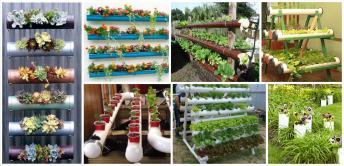 Original Pvc Pipe Planters Liven Your Garden