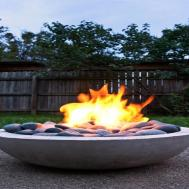 Outdoor Coffee Table Fire Pit Diy Concrete Bowl