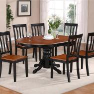 Oval Dinette Kitchen Dining Set Table Wood Seat