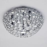 Ovii Light Bathroom Oval Flush Ceiling Chrome