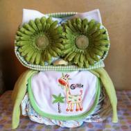 Owl Diaper Cake Baby Shower Animal