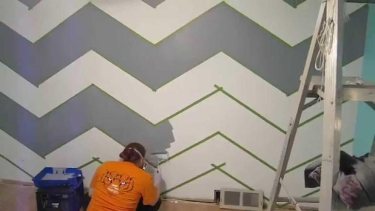 Paint Zig Zag Wall Chevron Pattern