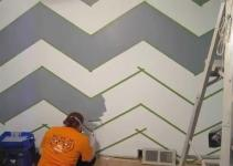 Paint Zig Zag Wall Chevron Pattern