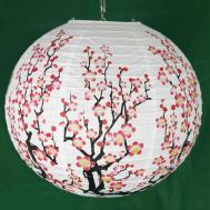 Pair Traditional Chinese Paper Lanterns Cherry Blossom