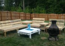Pallets Garden Lounge 1001