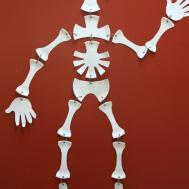 Paper Plate Skeleton Steps