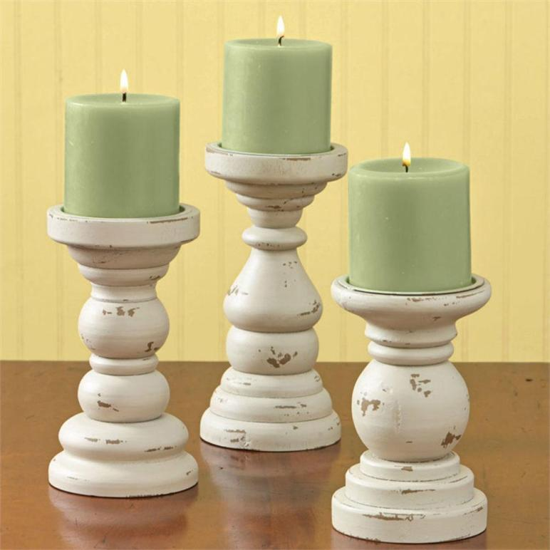 Park Designs Southport Wooden Candle Holders Set Aged