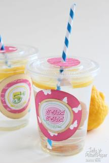 Party Lemonade Cups Fresh Summer Lady Pattern Paper