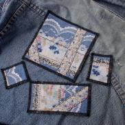 Patch Set Piece Denim Lace Patchwork Sew Patches