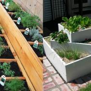 Patio Herb Garden Tiered Diy Bed Modern