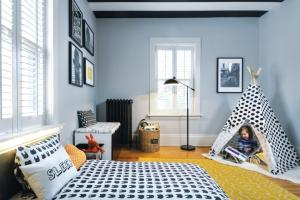 Pattern Color Transform Office Into Toddler Room