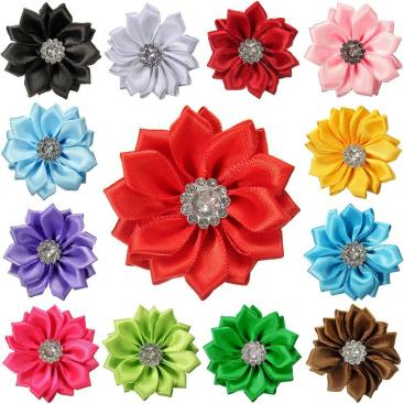 Pcs Cute Flowers Appliques Fabric Embellishments Sewing
