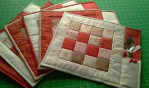 Pdf Pattern Quilted Placemats Coasters