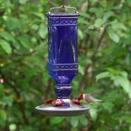 Perky Pet 8117 Cobalt Blue Antique Bottle