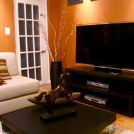 Photos Orange Living Room Black White