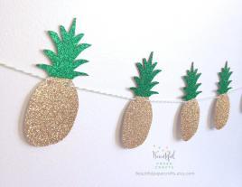 Pineapple Garland Summer Tropical Fruit Aloha