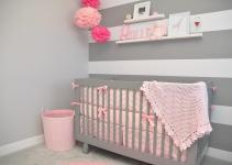 Pink Grey Baby Nursery Ideas Mippoos