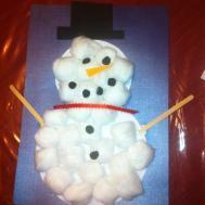Pinspire Cotton Ball Snowman