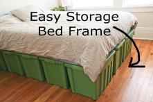 Plans Platform Bed Frame Drawers Woodworking