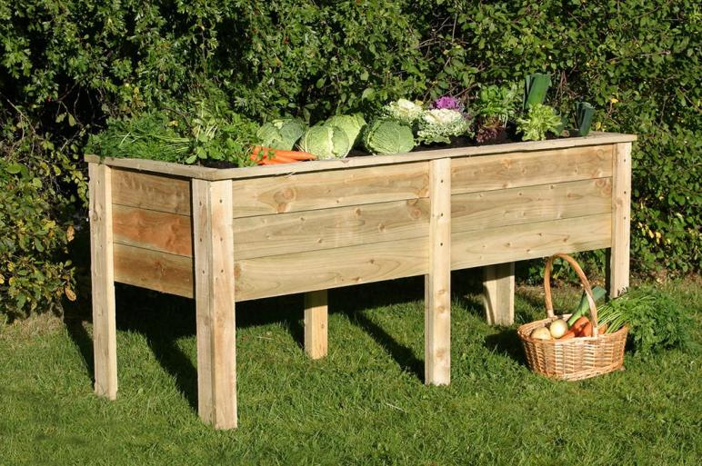 Planters Glamorous Elevated Planter Box Cedar