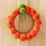 Pom Pumpkin Wreath