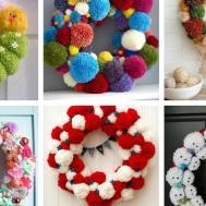Pom Wreaths Ideas Every Season Easy Diy Door