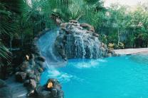 Pools Waterfalls Slides Backyard Design Ideas