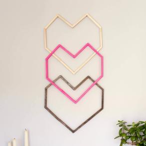 Popsicle Stick Hexagon Shelf Easy Diy Wall Art