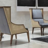 Porada Liala Straw Armchair Design Modern