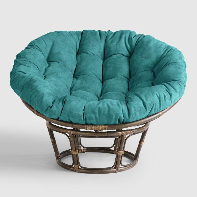 Porcelain Micro Suede Papasan Chair Cushion World Market