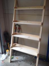 Pretty Bookshelves Diy Construction Finished