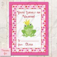 Printable Kids Valentine Day Cards Toad Diy