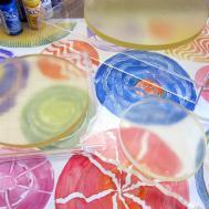 Printing Gelli Arts Stamping Round