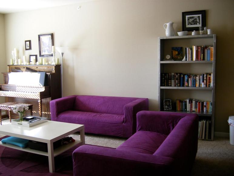 Purple Living Room Furniture Ideas
