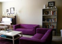 Purple Living Room Furniture Ideas