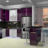 Purple White Kitchen Basuki Rahmat