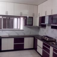 Purple White Kitchen Home Design
