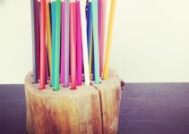 Queen Kwak Diy Simple Log Pencil Holder