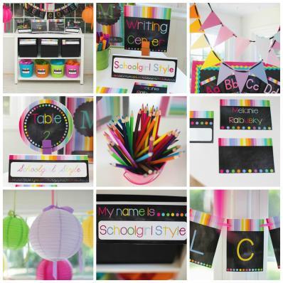 Rainbow Chalkboard Classroom Theme Schoolgirlstyle
