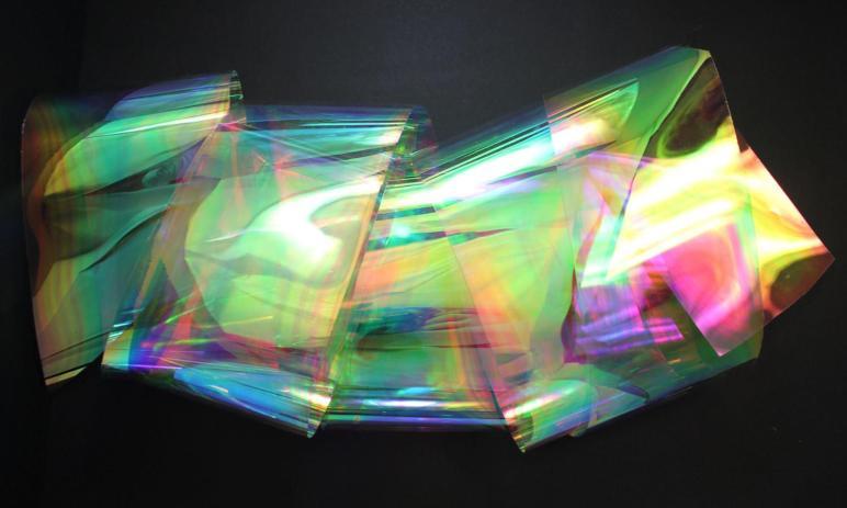 Rainbow Shine Iridescent Holographic Decor